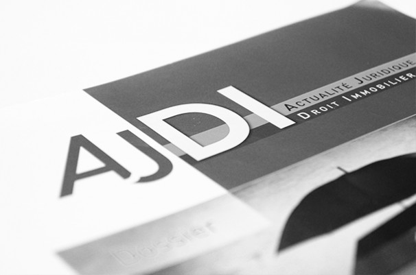 Publication d'un article à la revue « Actualité juridique droit immobilier » (AJDI)
